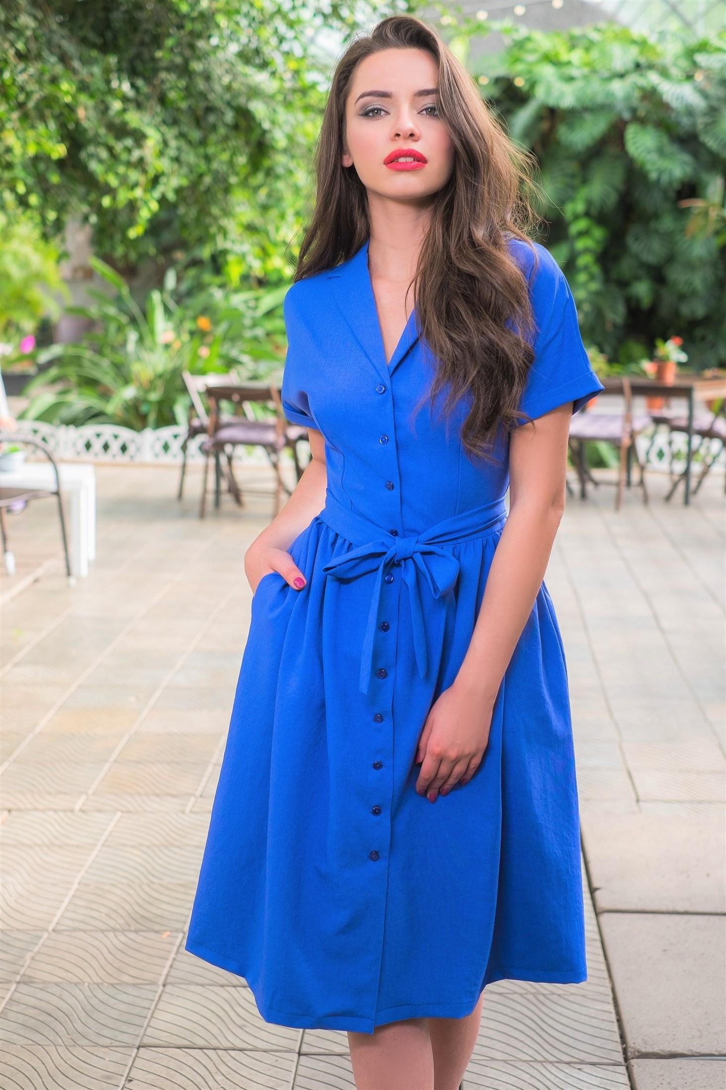 51-01 Платье синее