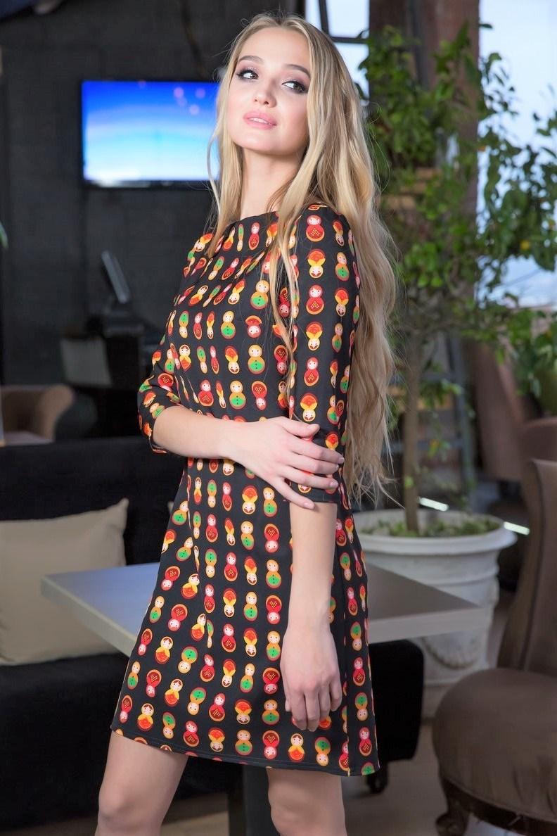 52-08 Платье с матрешками