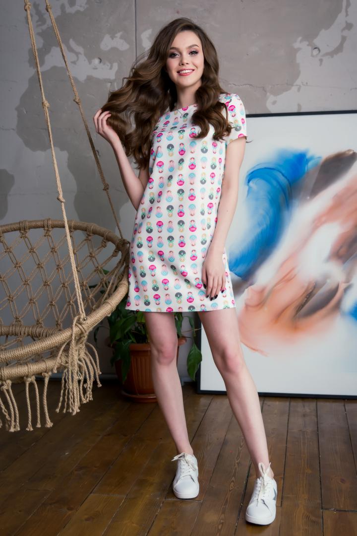 34-13 Платье с матрешками
