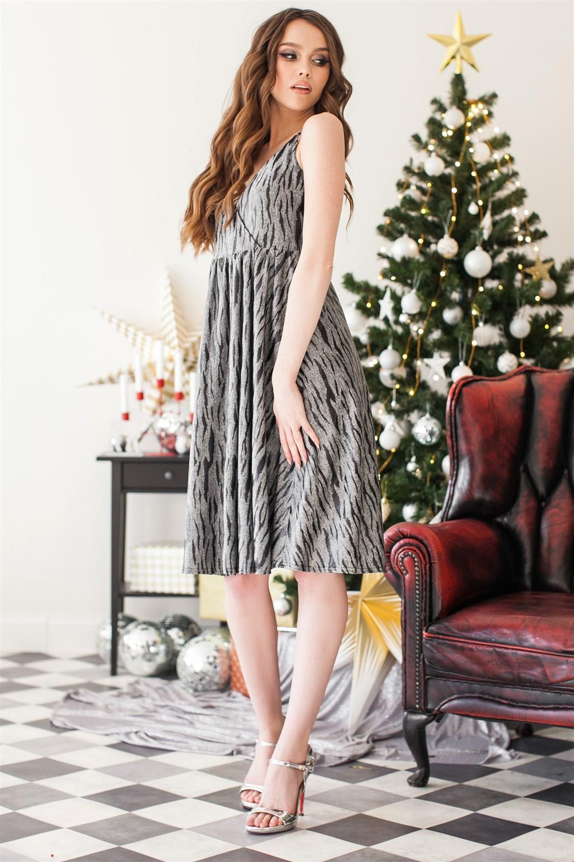 95-01 Платье серебро - фото 10042
