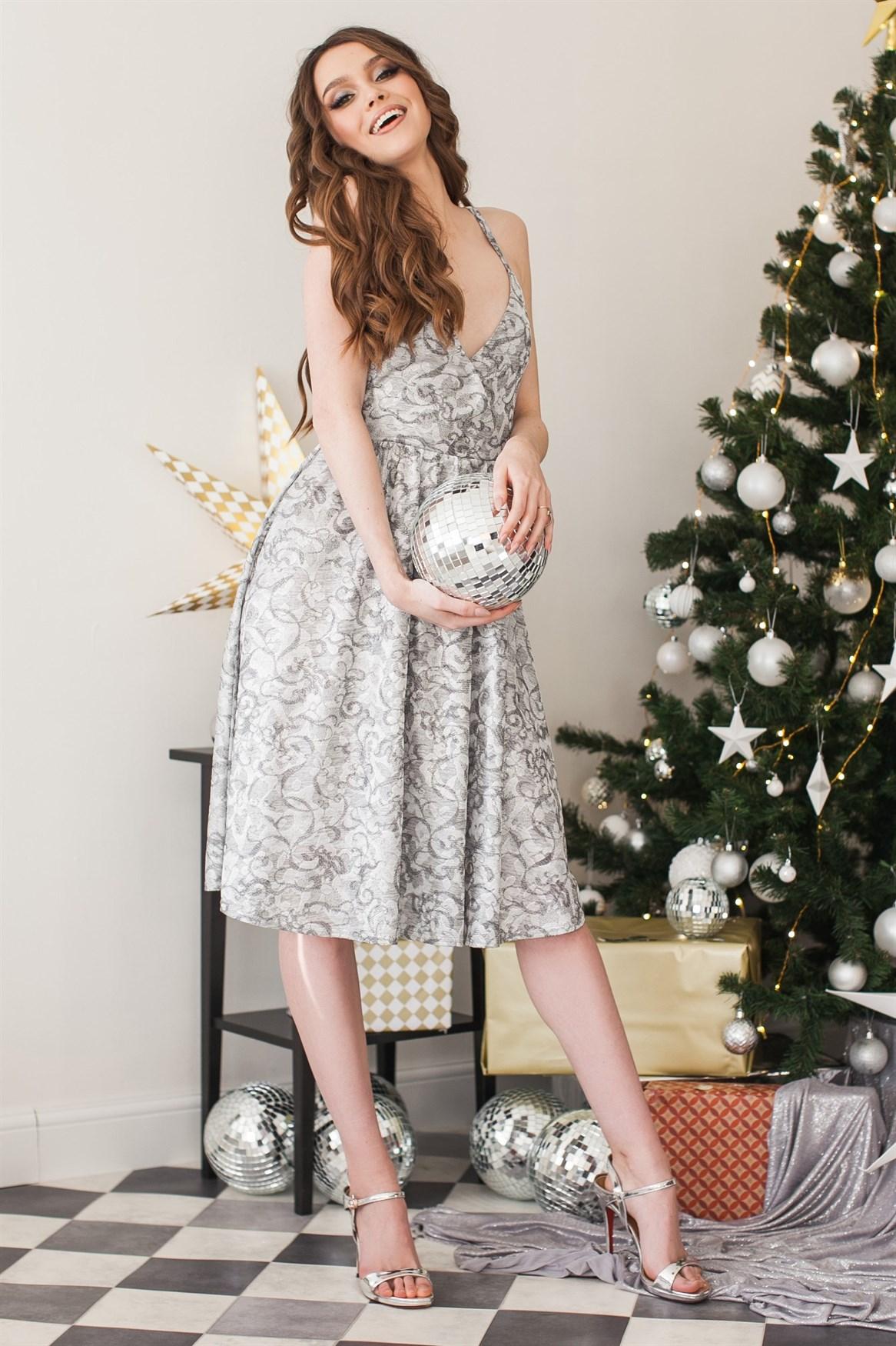 95-03 Платье серебро - фото 10051