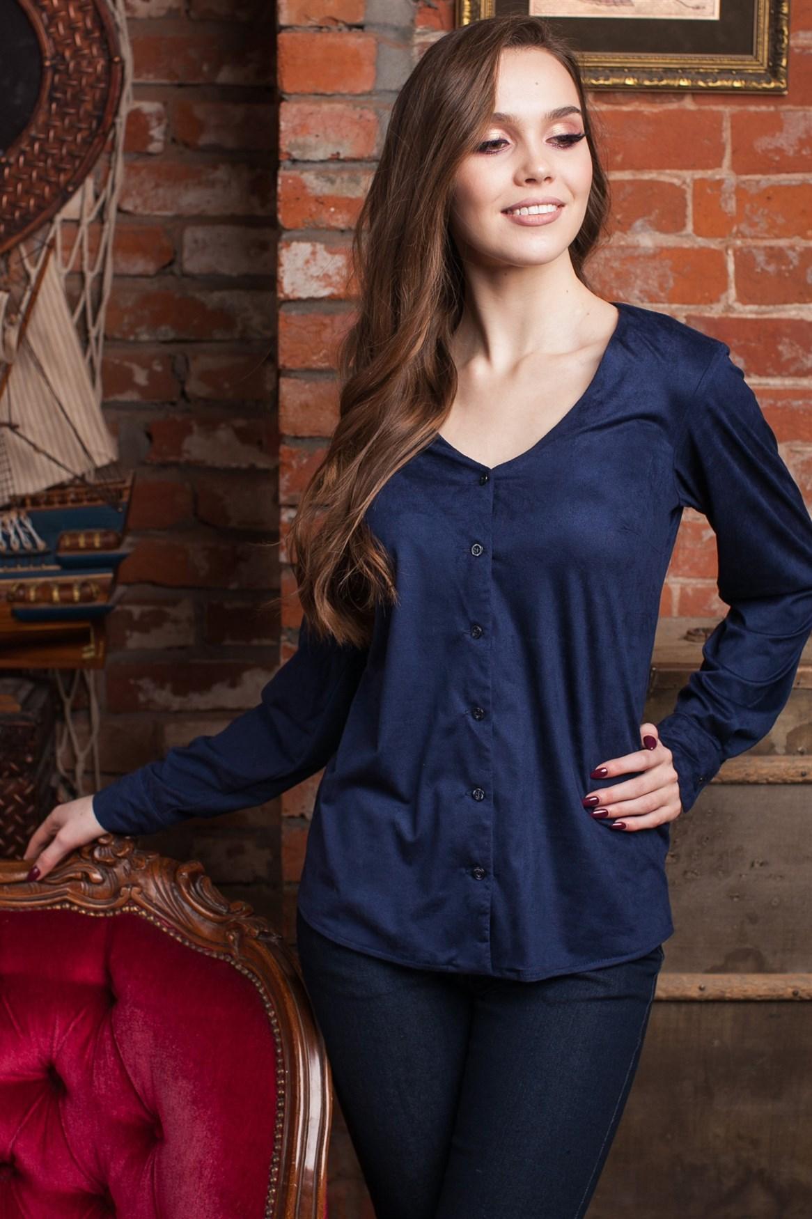 96-19 Блуза из замши - фото 10239