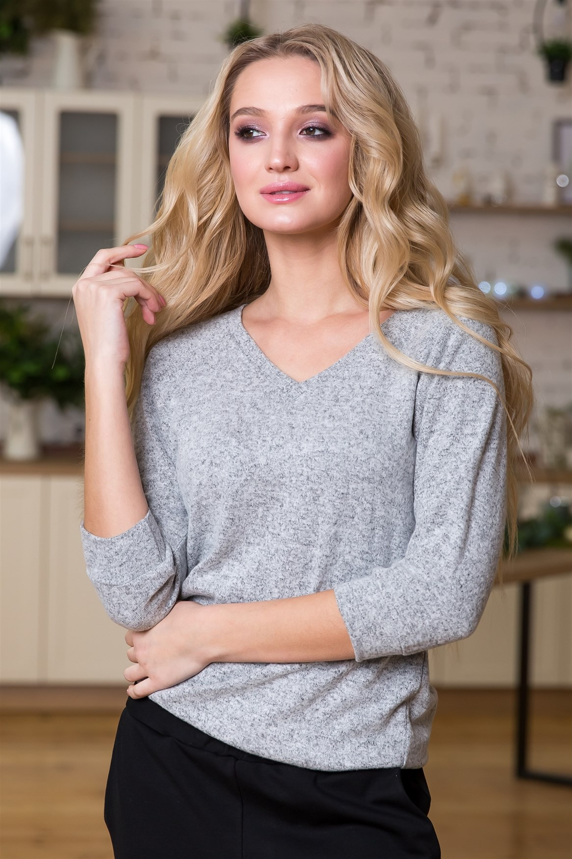 78-10 Трикотажная блуза - фото 4760
