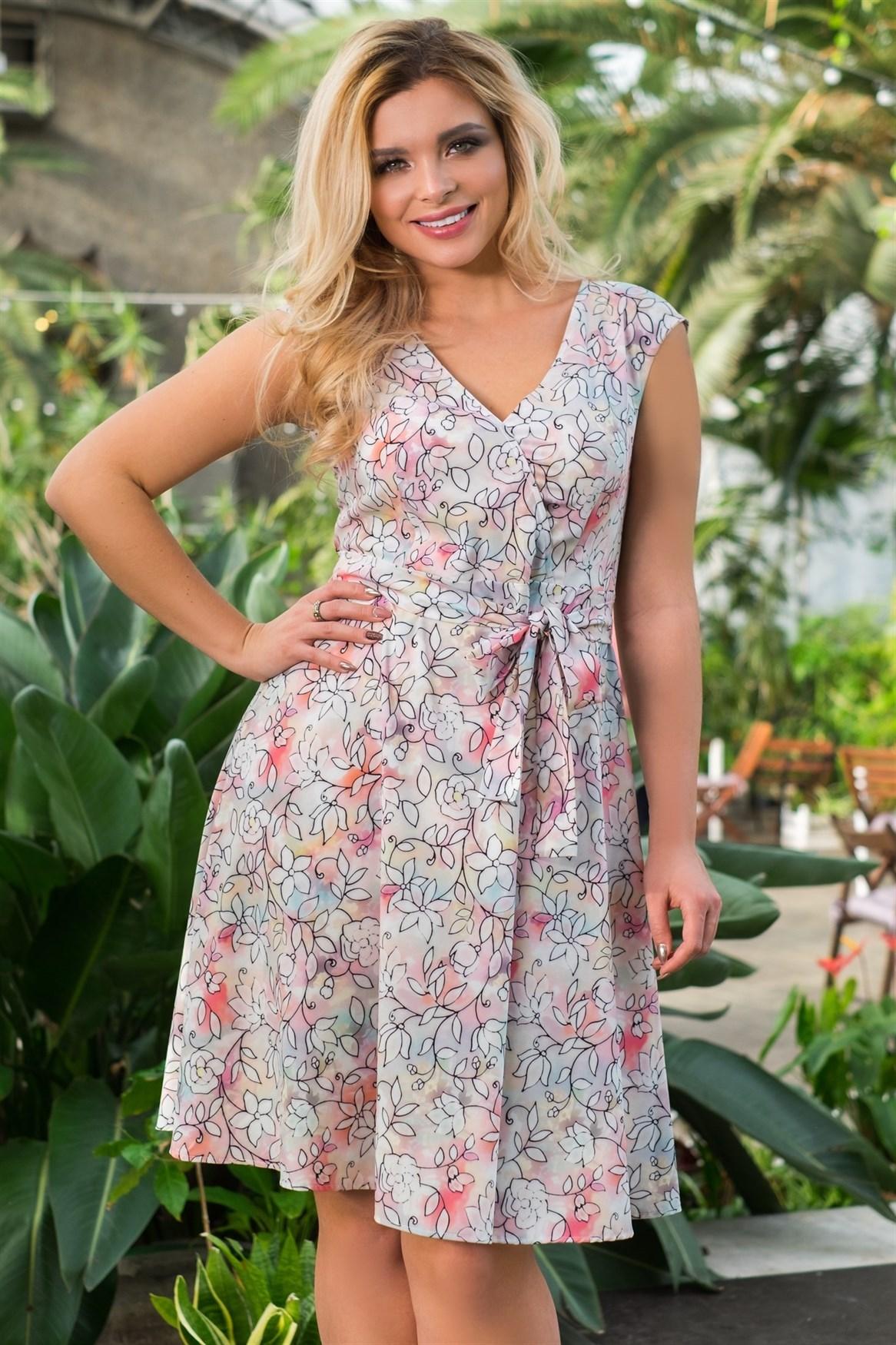 522-24 Платье из легкой ткани - фото 5397