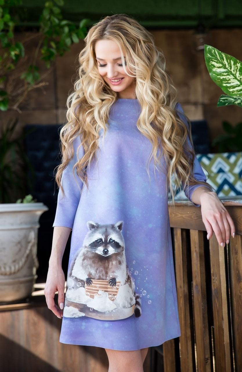 55-17 Платье с енотом - фото 5609