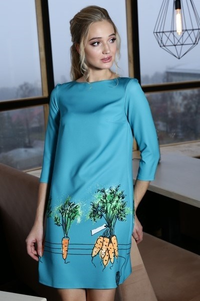 56-10 Платье с морковками - фото 5738