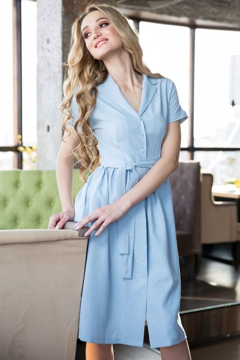 62-01 Голубое платье - фото 6168