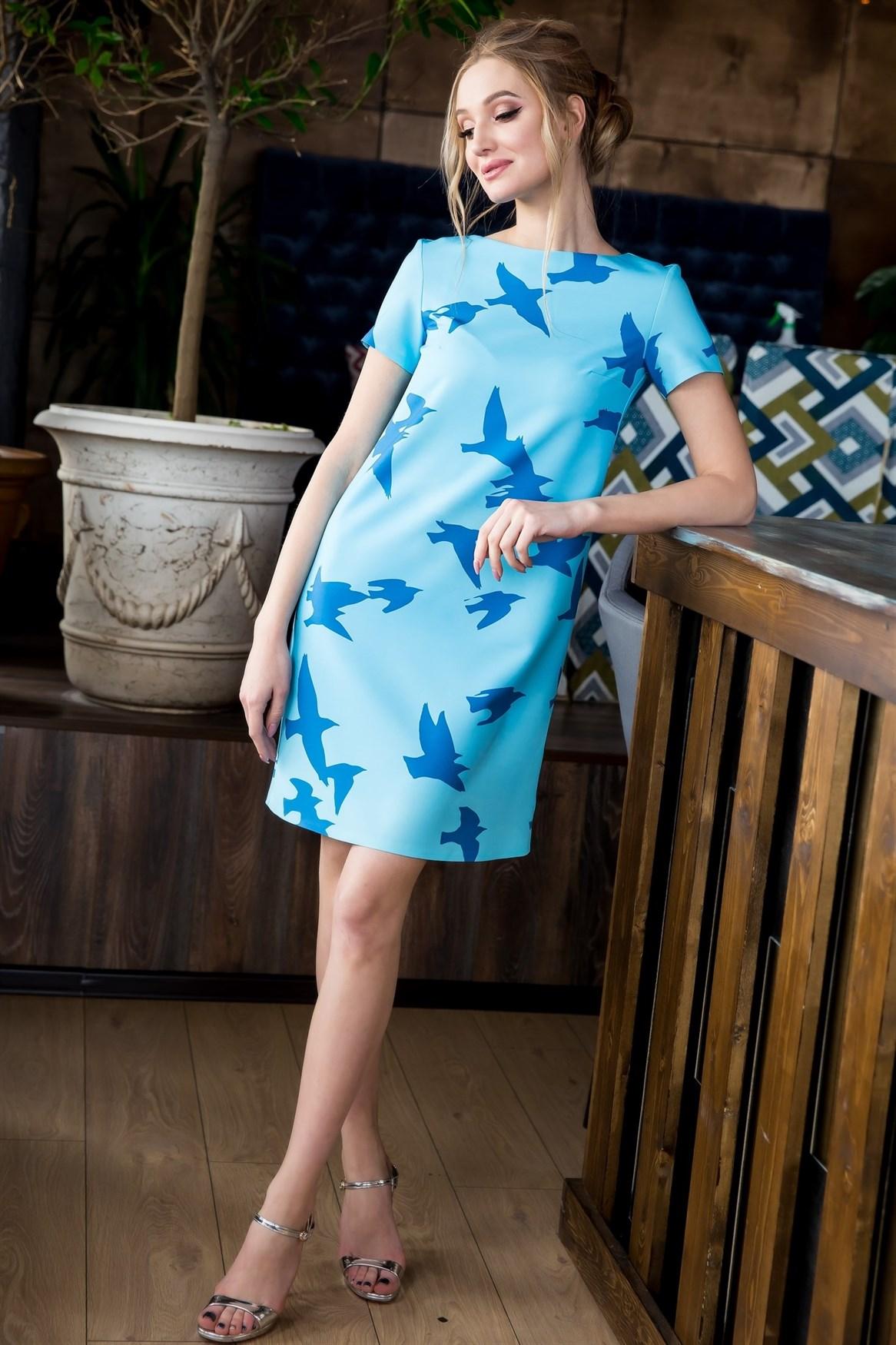 63-07 Платье с птицами - фото 6184