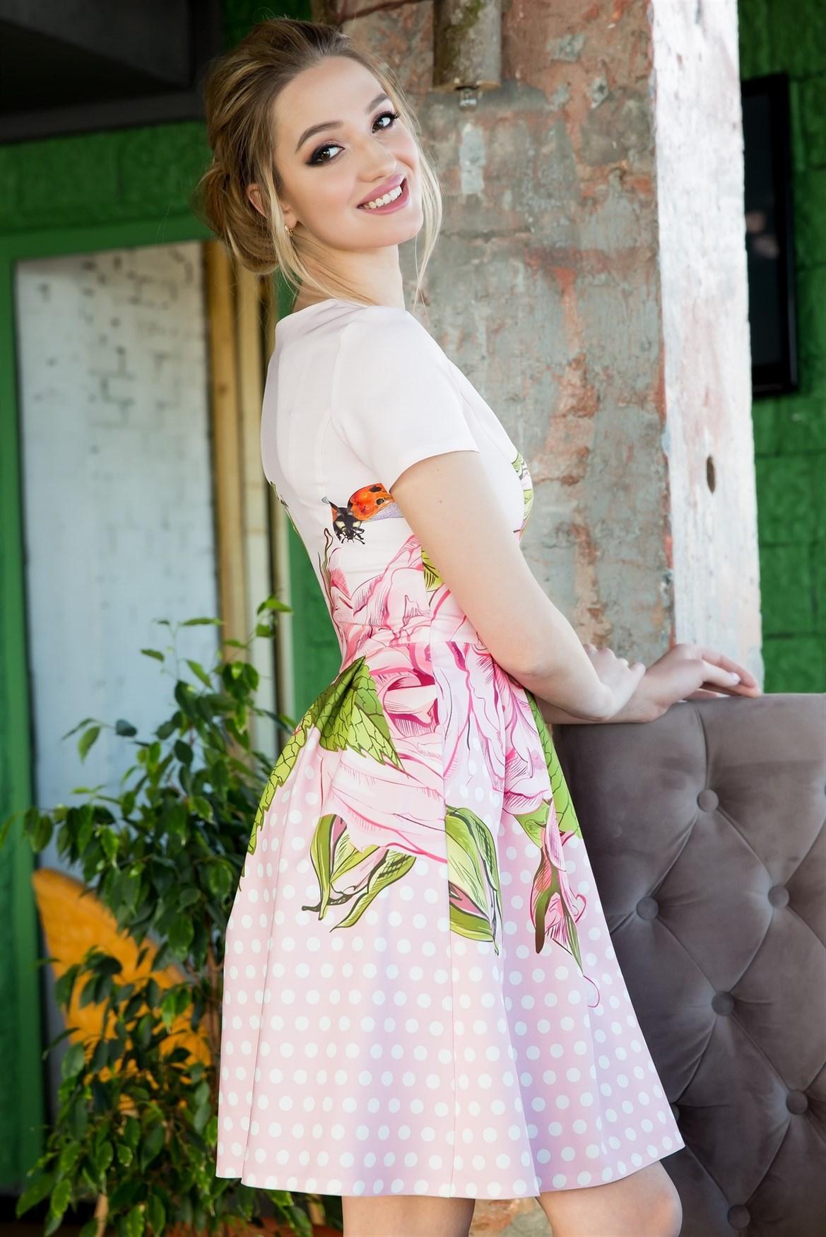 64-06 Платье в горошек - фото 6286