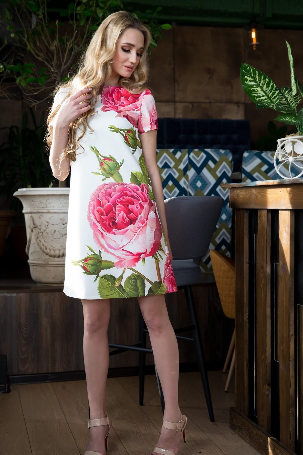 65-07 Платье с розами - фото 6362