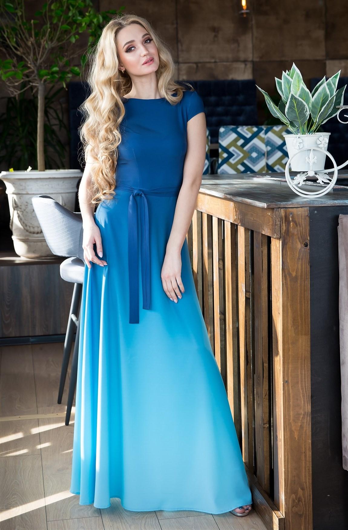 65-03 Платье с градиентом - фото 6386
