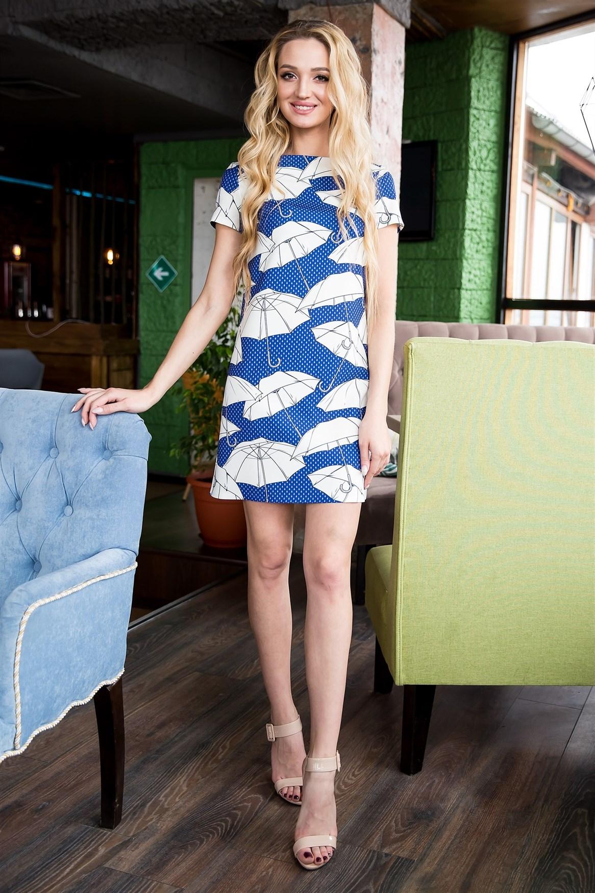 66-16 Платье  с зонтиками - фото 6424