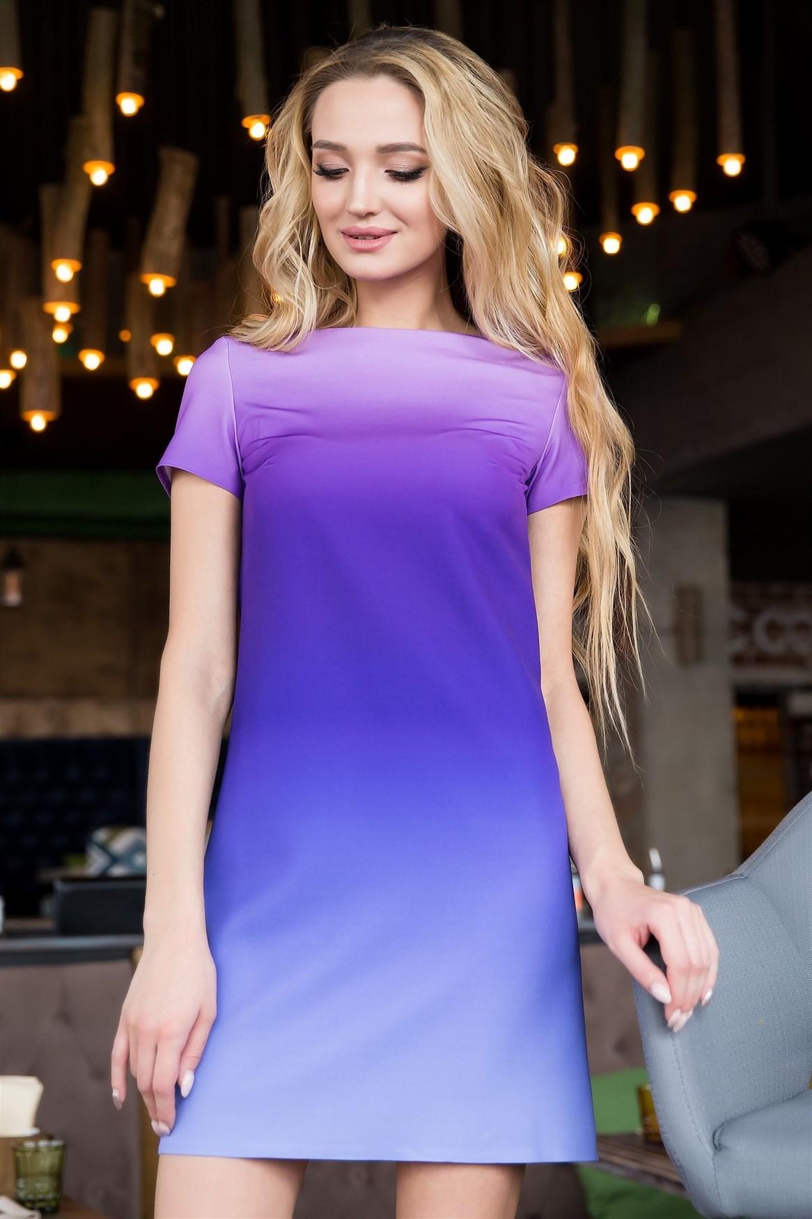 66-11 Платье с градиентом - фото 6461