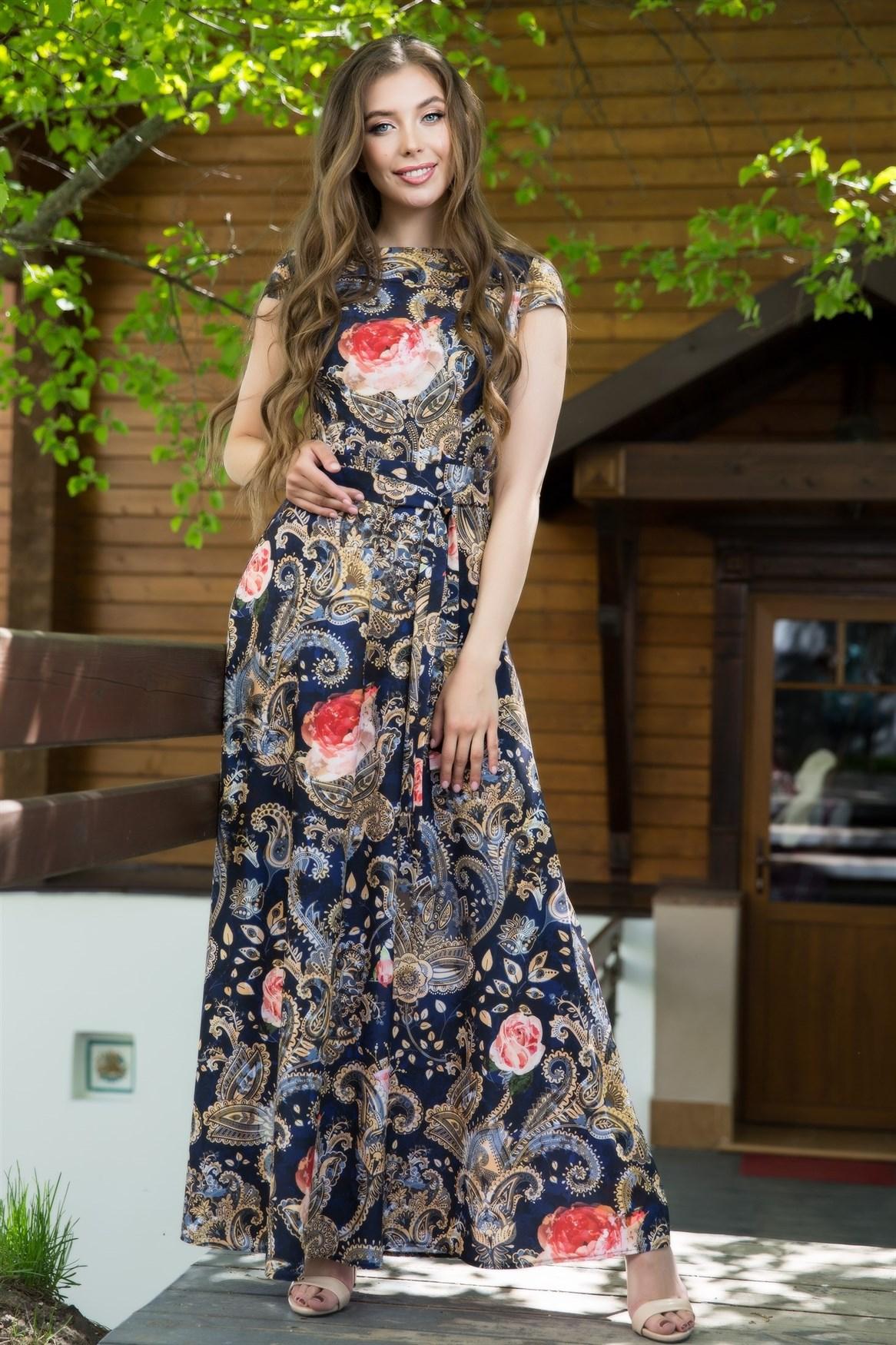 67-04 Длинное платье - фото 6527