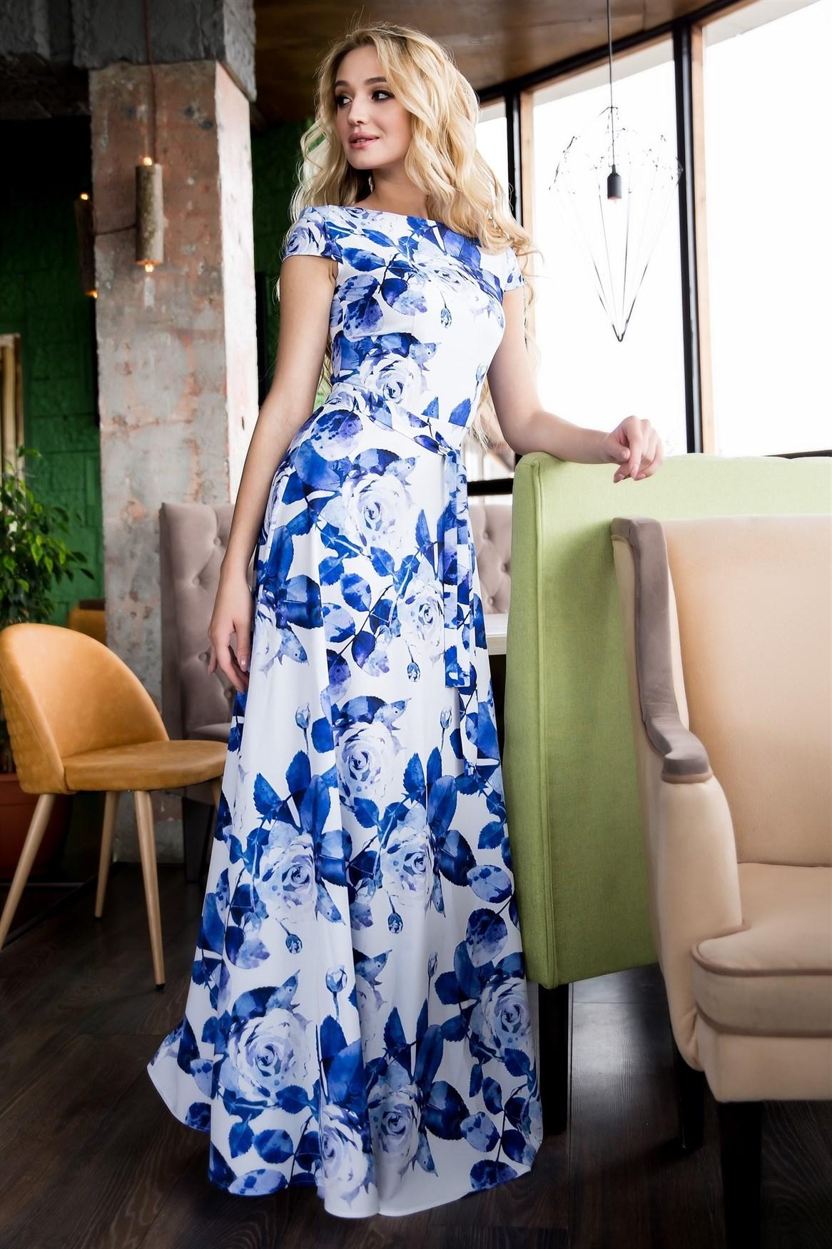 68-18 Длинное платье - фото 6592