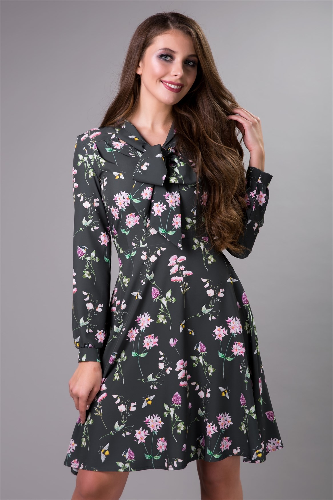 85-10 Платье с бантом - фото 7997
