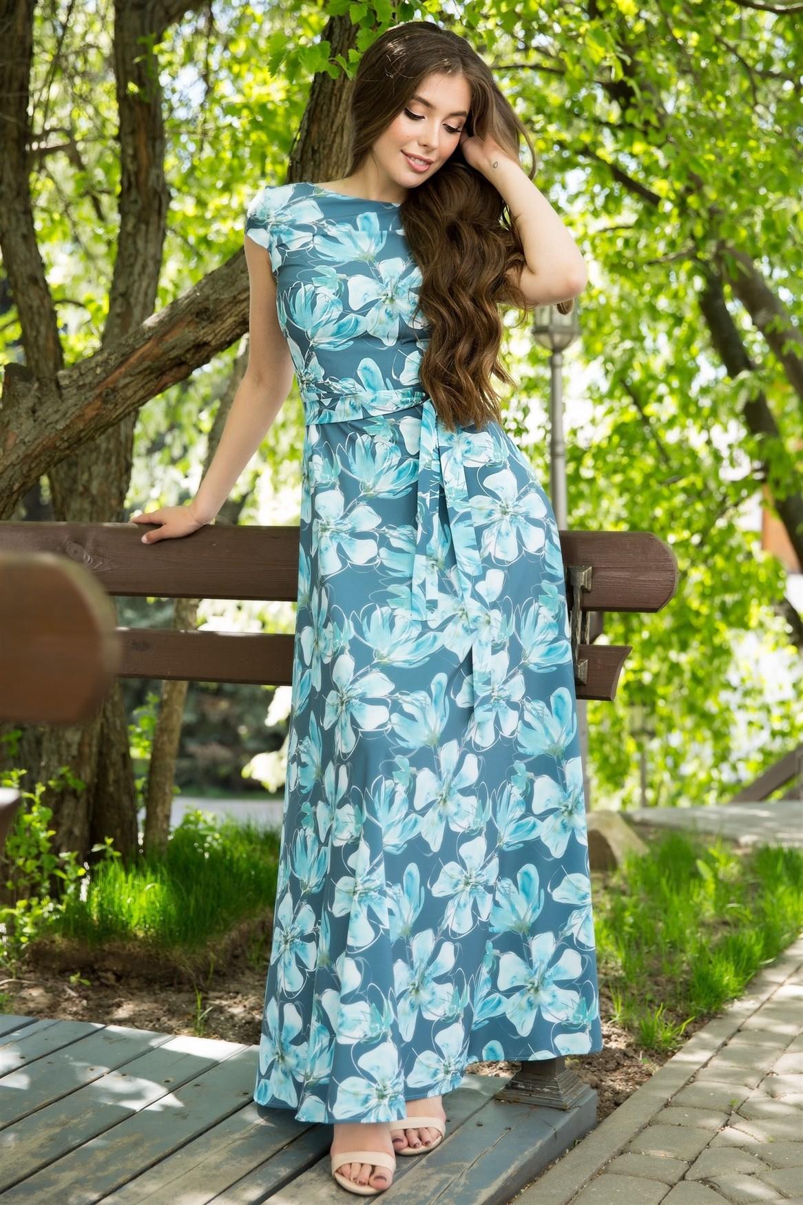 67-07 Длинное платье - фото 8445
