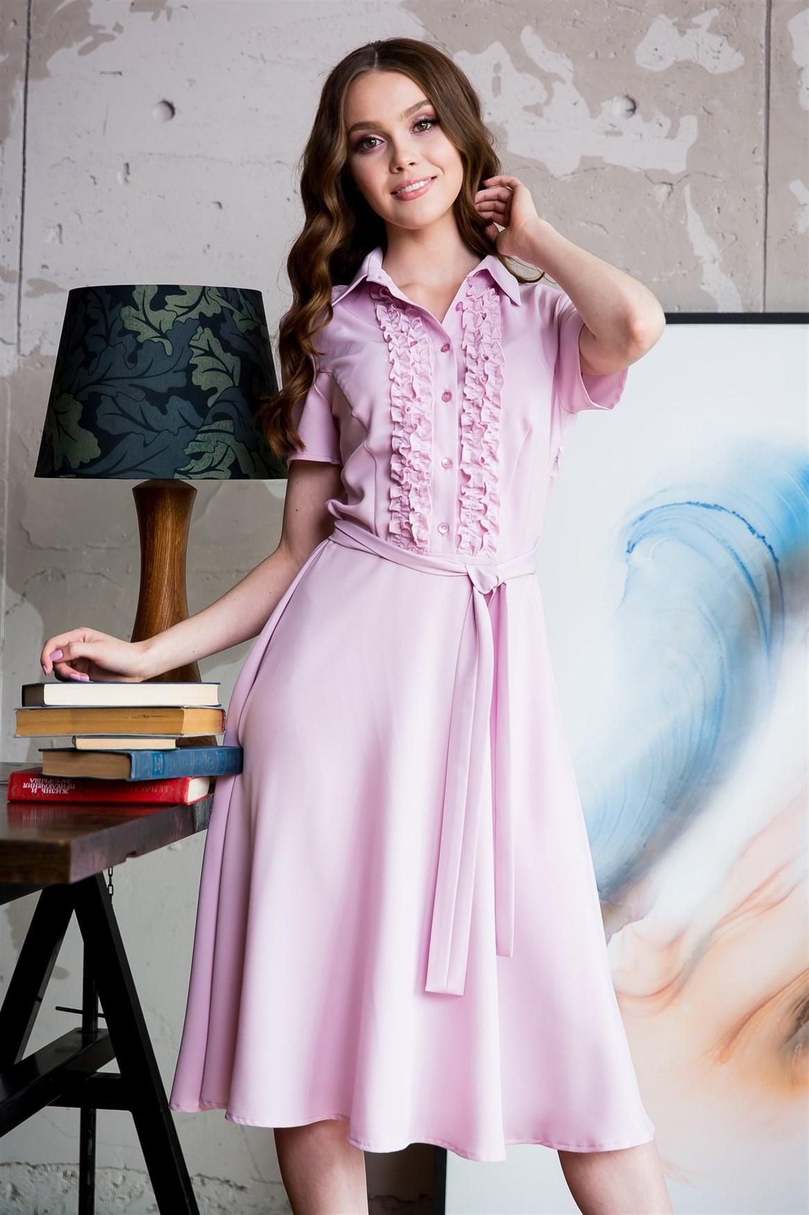 89-04 Розовое платье - фото 9124