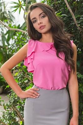 48-09 Блуза с воланом - фото 4653