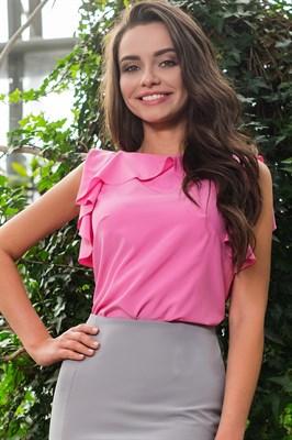 48-09 Блуза с воланом - фото 4654