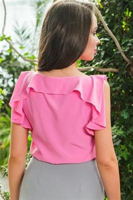 48-09 Блуза с воланом - фото 4655