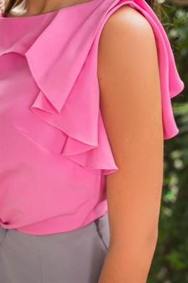 48-09 Блуза с воланом - фото 4656