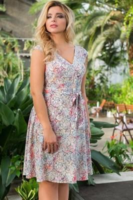 522-24 Платье из легкой ткани - фото 5396