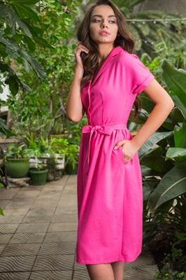 48-01 Платье фуксия - фото 5462