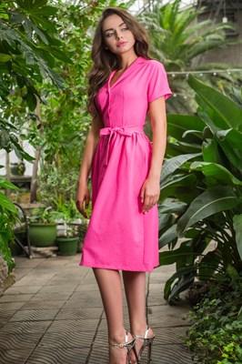 48-01 Платье фуксия - фото 5463