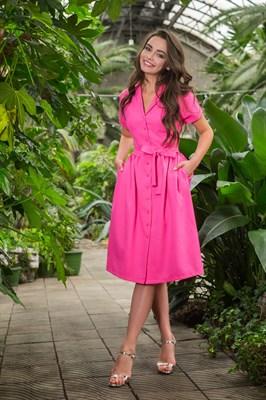 48-01 Платье фуксия - фото 5464
