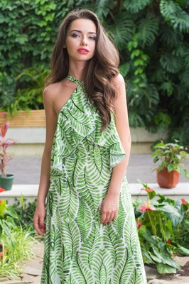 51-16 Платье с открытыми плечами - фото 5499