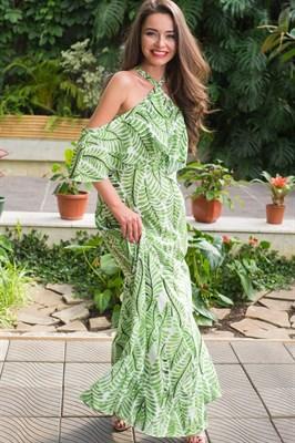 51-16 Платье с открытыми плечами - фото 5501