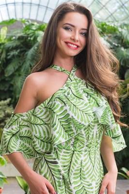 51-16 Платье с открытыми плечами - фото 5503