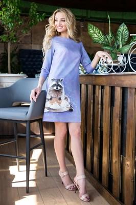 55-17 Платье с енотом - фото 5610