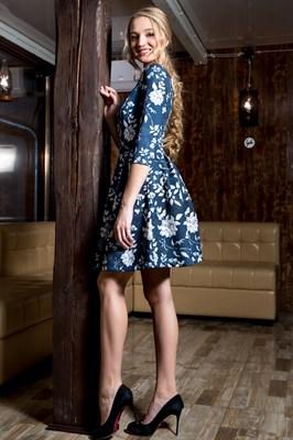 55-11 Платье со складками - фото 5630
