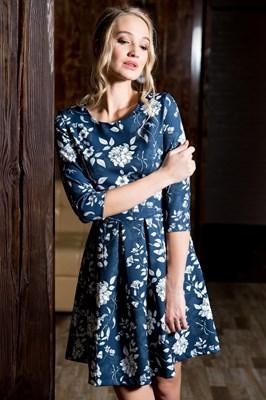 55-11 Платье со складками - фото 5631
