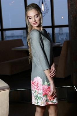 56-16 Платье в мелкий горошек - фото 5707