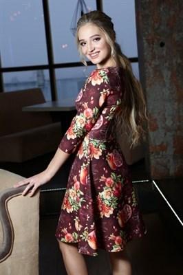 56-04 Платье с гранатами - фото 5772