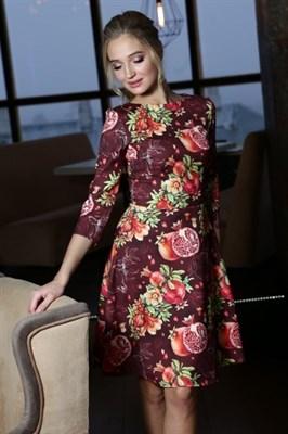 56-04 Платье с гранатами - фото 5773