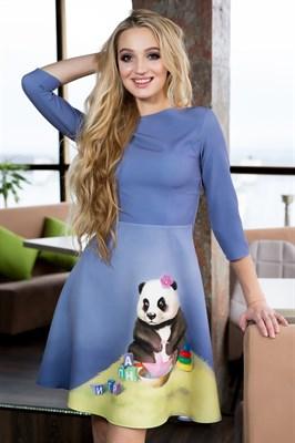 57-11 Платье с пандой - фото 5814