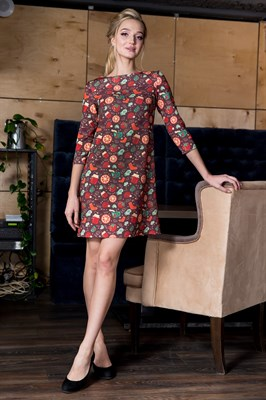 57-02 Платье А-силуэта - фото 5869