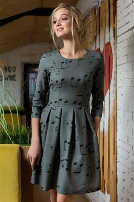 59-08 Платье с нотами