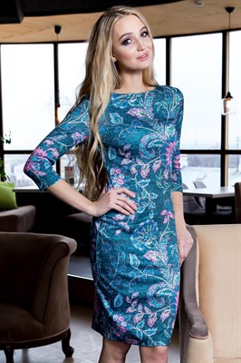 59-07 Яркое платье - фото 5936