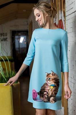 60-01 Платье с котенком