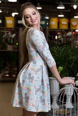 61-04 Платье с единорогами - фото 6114