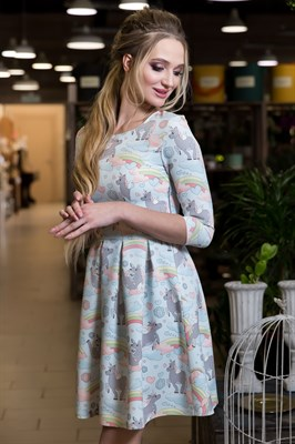 61-04 Платье с единорогами - фото 6115