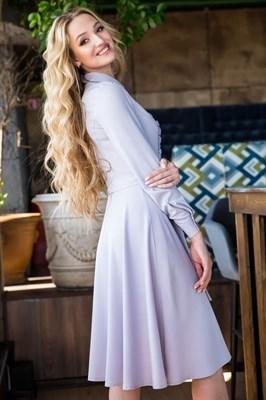 62-02 Серое платье - фото 6162