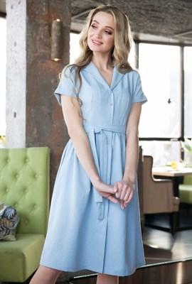 62-01 Голубое платье - фото 6169