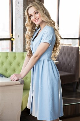 62-01 Голубое платье - фото 6170