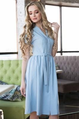 62-01 Голубое платье - фото 6171
